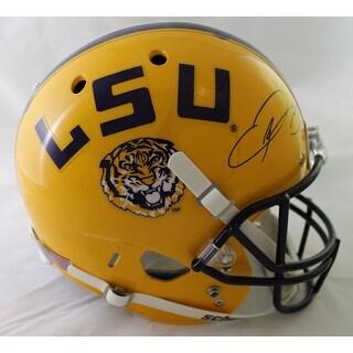 Odell Beckham Jr Autographed LSU Tigers Schutt Replica Helmet JSA