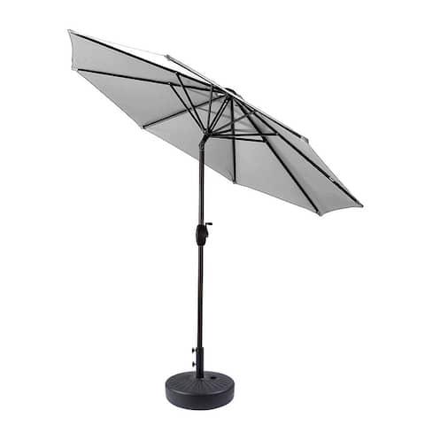 Amada 9-foot Aluminum Patio Umbrella with Tilt and Crank