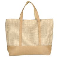 CTM® Women's Two Tone Canvas Tote Bag - One size