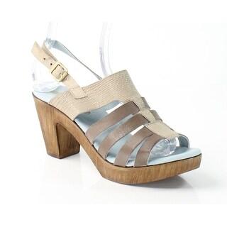Eric Michael NEW Brown Barbara 9.5M Slingbacks Leather Sandals