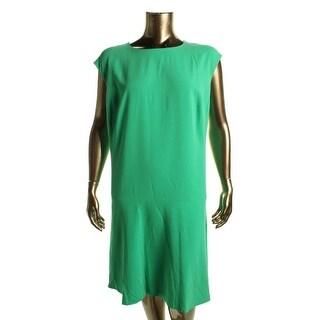 Lauren Ralph Lauren Womens Plus Casual Dress Chiffon Shift