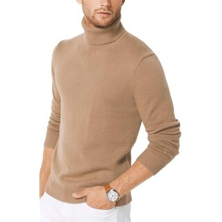 Michael Kors Italian Cashmere Turtleneck Sweater Camel Brown Large L