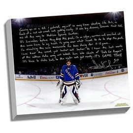 Henrik Lundqvist Facsimile 'Playing in the Garden' Stretched 22x26 Story Canvas