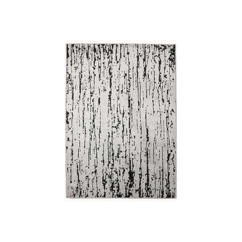 LoomBloom Persian Polypropylene Lisette Modern & Contemporary Oriental Area Rug Gray, Black Color