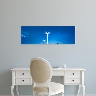 Easy Art Prints Panoramic Images's 'View of wind turbines, Freisen, Sankt Wendel, Saarland, Germany' Premium Canvas Art