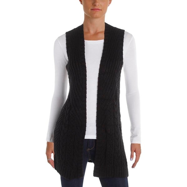 Shop Guess Womens Sweater Vest Crochet Open Front M Ships To