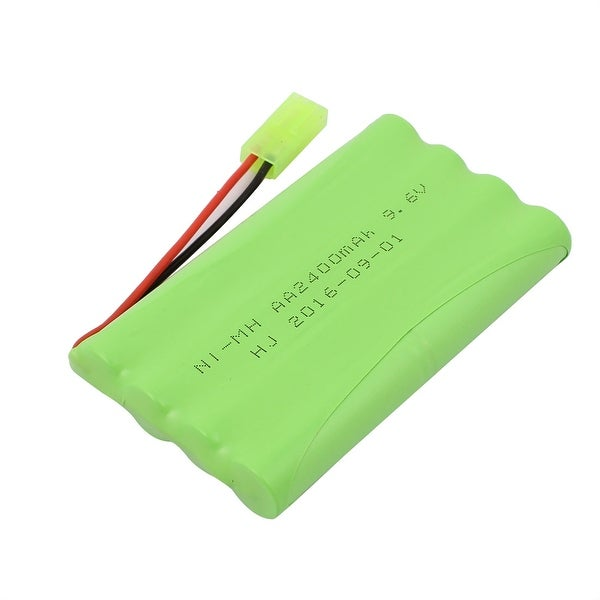 DC 9.6V 2400mAh Rechargable Ni-MH AA Battery Pack for Electrical Toys