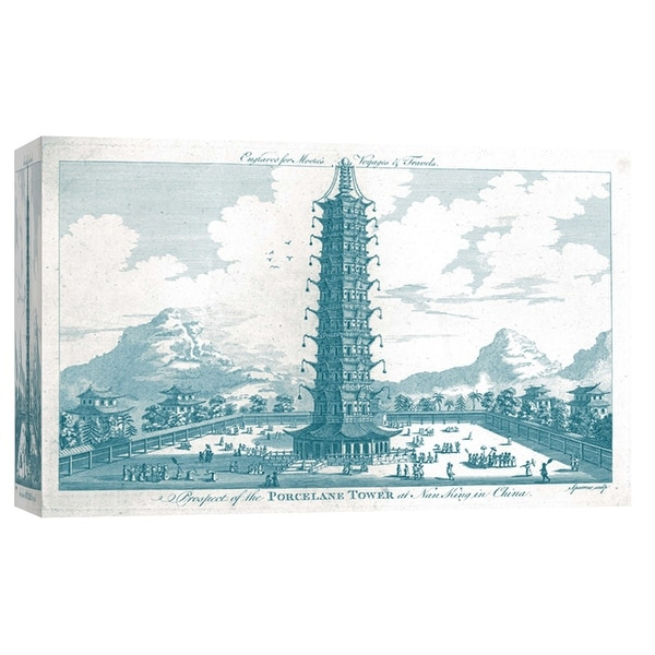 "PTM Images 9-102179 PTM Canvas Collection 8"" x 10"" - ""The Porcelain Tower"" Giclee Pagoda Art Print on Canvas"