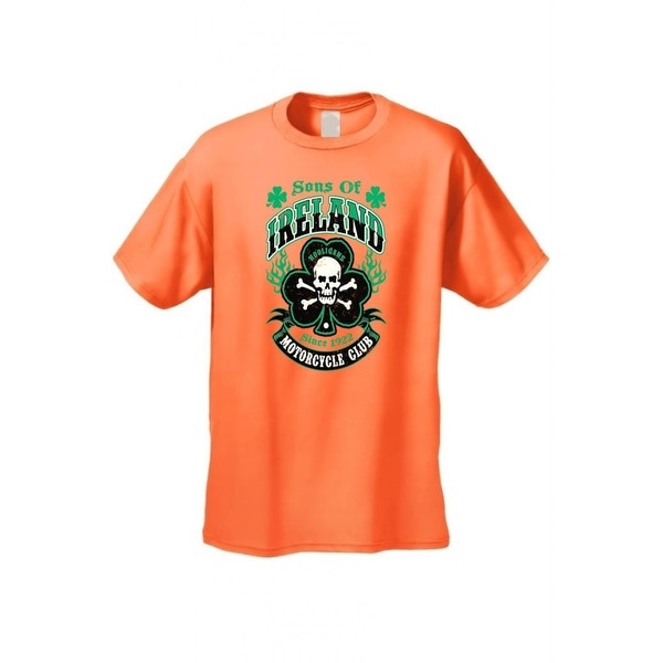 Men's Biker T-Shirt Sons of Ireland Motorcycle Club Ireland Irish Pride Hooligans