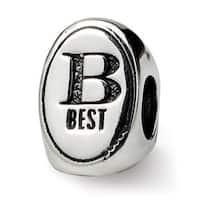 Sterling Silver Reflections Best Friend Trilogy Oval Bead (4mm Diameter Hole)