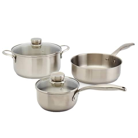 Frigidaire 5PC Stainless Steel Cookware Set