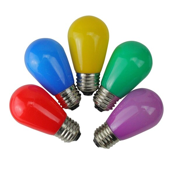 Pack of 25 Opaque LED S14 Multi-Colored Christmas Replacement Bulbs