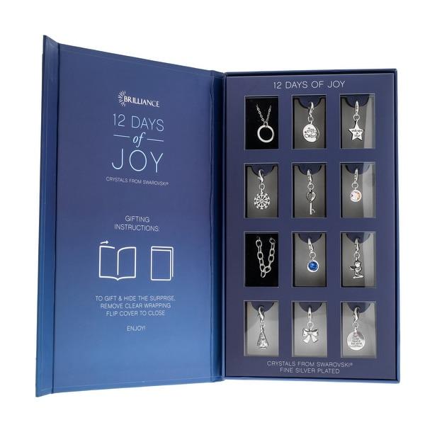 Advent Christmas Calendar Bracelet Necklace Swarovski Crystal Jewelry - Blue/Silver. Opens flyout.