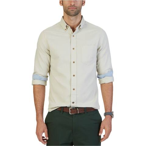 Nautica Mens Long Sleeve Button Up Shirt