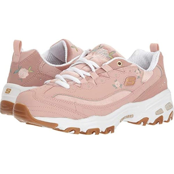 8eee3df0a53d Shop Skechers Women s D lite - Rose Blooms Rose - Free Shipping Today -  Overstock - 27121803