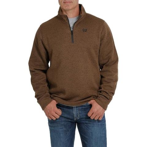Cinch Western Sweatshirt Mens 1/4 Zip Pull Over Logo