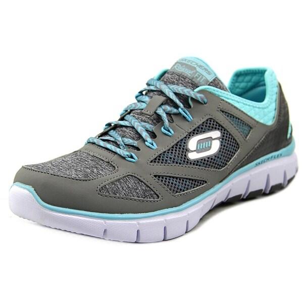 Skechers Skech-Flex Style Source Women Round Toe Synthetic Gray Running Shoe