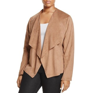 Alison Andrews Womens Plus Jacket Flyaway Faux Suede (3 options available)