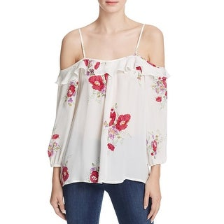 Joie Womens Casual Top Silk Floral Print