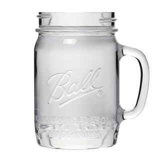 Ball 1440016001 Regular Mouth Drinking Jars, 4 Pack