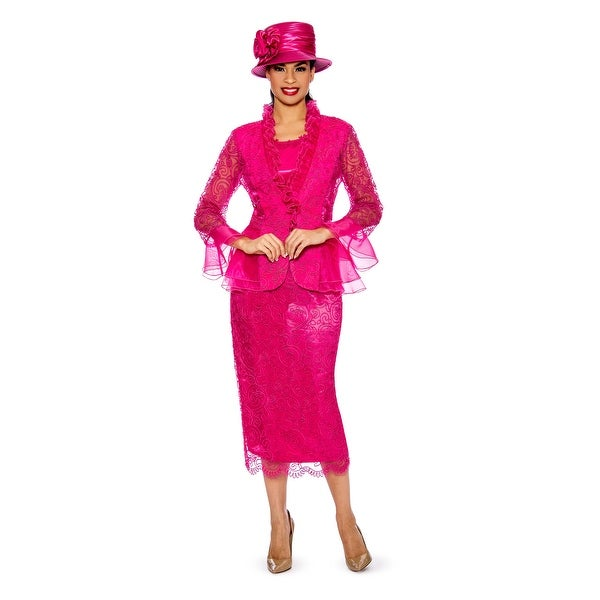 Giovanna Signature Women's 3-pc Lace Suit w/ Organza Trims. Opens flyout.