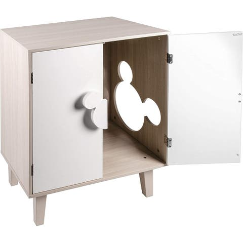 Penn-Plax Disney Cat Cabinet - Pet Furniture with Multifunctional Use - Great for Hiding Kitty Litter Messes - White & Gray