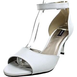 Array Chloe Women W Open-Toe Leather White Heels