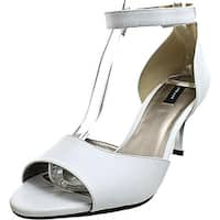 Array Chloe Women W Open-Toe Leather White Heels