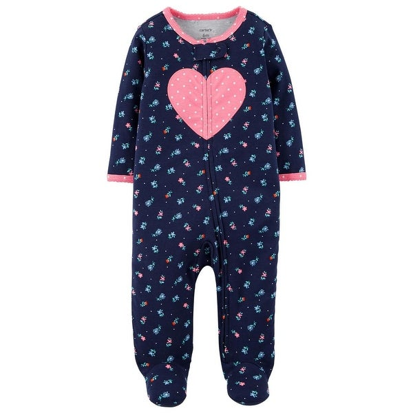 Carters Girls 0-9 Months Heart Sleep And Play