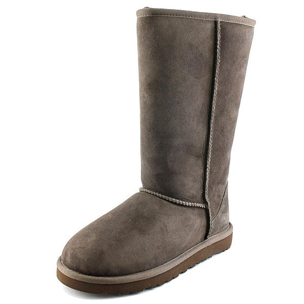 Ugg Australia Classic Tall Youth Round Toe Suede Brown Winter Boot