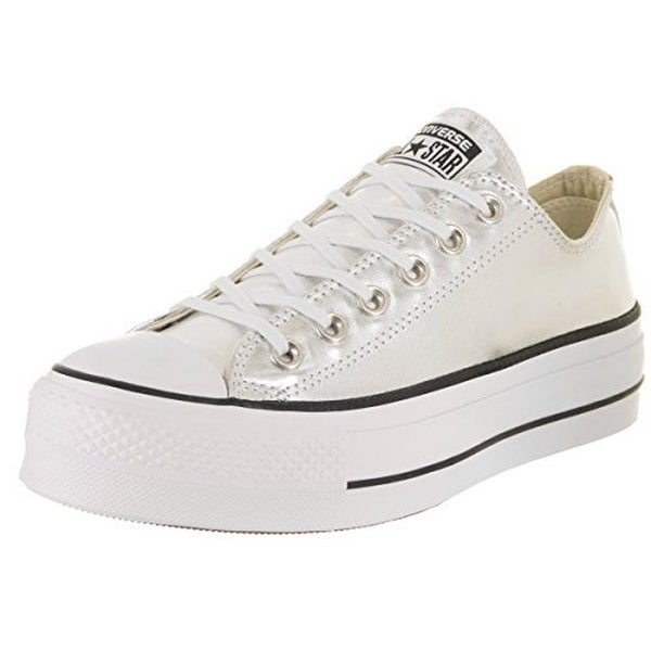 Converse Womens Chuck Taylor All Star Lift, Silver/Black/White