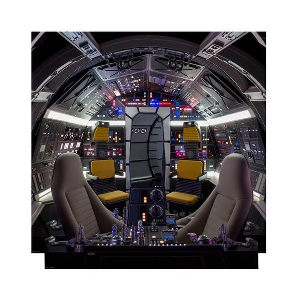 Cockpit of Millenium Falcon Backrop - Star Wars Han Solo Movie