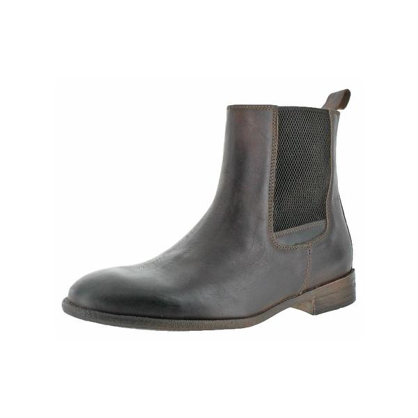 Robert Wayne Mens Oregon Chelsea Boots Round Toe Casual