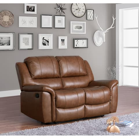Copper Grove Forbach Top-grain Leather Reclining Loveseat - N/A