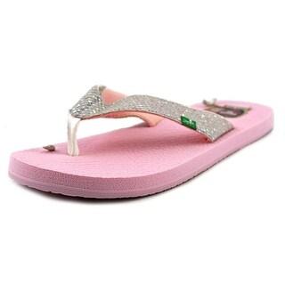 Sanuk Yogo Glitter Open Toe Synthetic Flip Flop Sandal