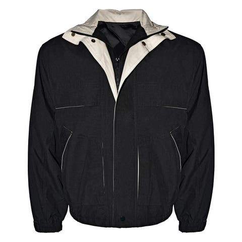 Victory Outfitters Men's Microfiber Contrast Color Jacket w/ Storm Flap