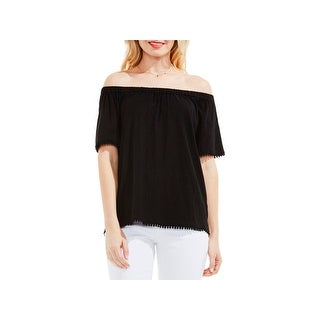 Two by Vince Camuto Womens Blouse Cotton Off-The-Shoulder