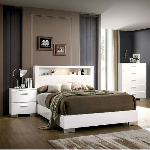 Furniture of America Champs 3-piece Queen Storage Bed Set