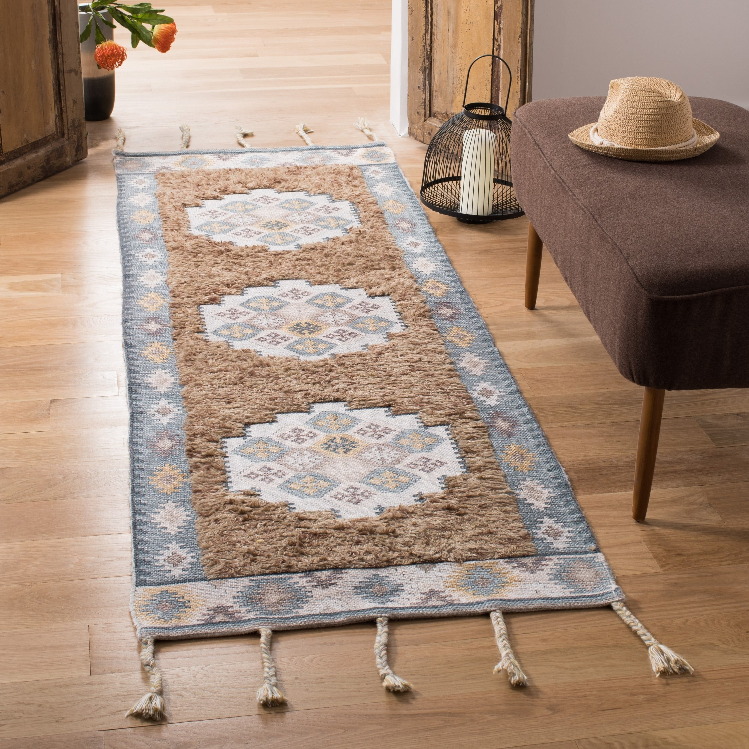 Safavieh Handmade Saffron Rajmonda Modern Tribal Cotton Rug Overstock 26287304
