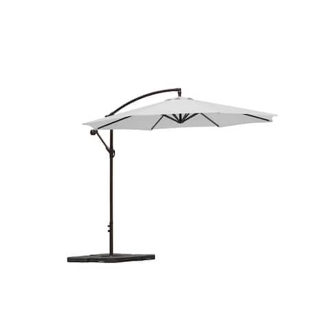 Weller 10ft Offset Canopy Umbrella and Heavy Duty Fillable Umbrella Base Weights