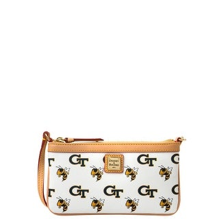 Dooney & Bourke NCAA Georgia Tech Large Slim Wristlet (Introduced by Dooney & Bourke at $88 in Nov 2014) - White