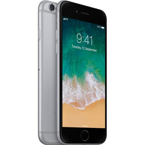 """Apple iPhone 6 16GB 4.7"""" 4G LTE FullyUnlocked,Space Gray(Certified Refurbished) - Space Gray"""