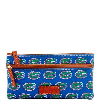 Dooney & Bourke NCAA Florida Double Zip Flat Pouch (Introduced by Dooney & Bourke at $85 in Mar 2016) - Blue