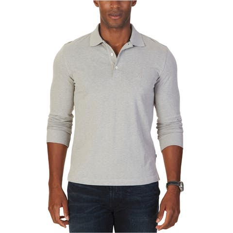 Nautica Mens Solid Rugby Polo Shirt