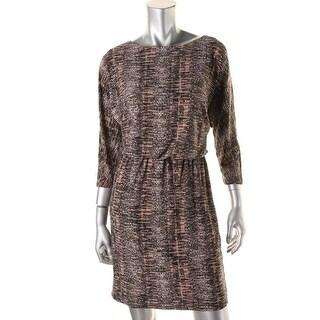 Nine West Womens Printed Dolman Wear to Work Dress