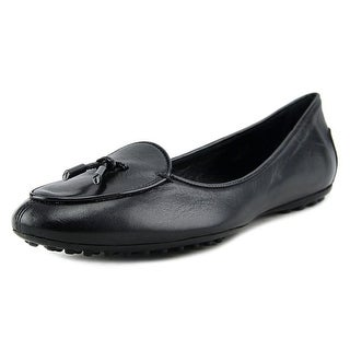 Tod's Ballerina Dee Pantofola Laccetto Women Round Toe Leather Black Loafer