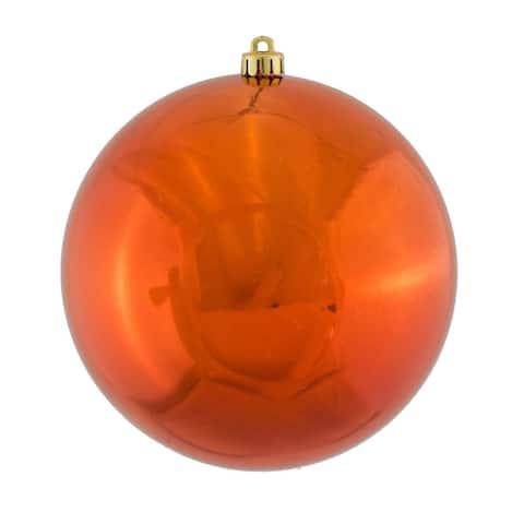 "Shiny Burnt Orange Shatterproof Christmas Ball Ornament 2.75"" (65mm)"