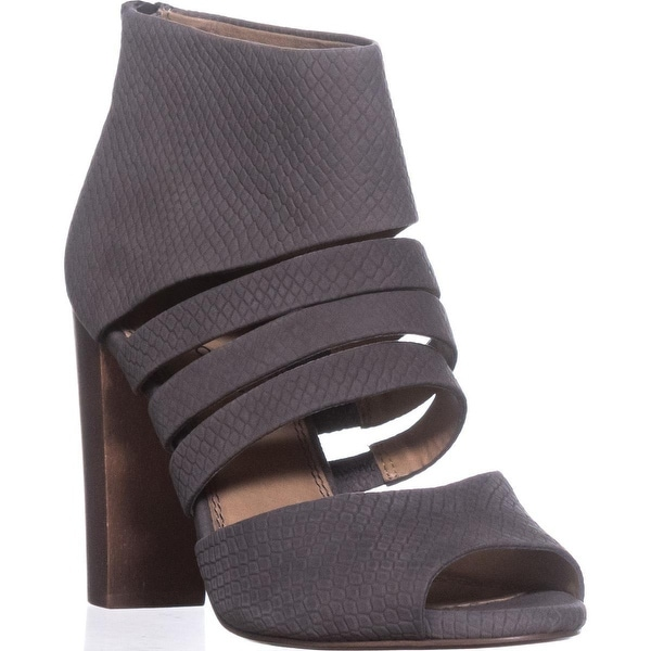 Splendid Jackie Cut Out Peep-Toe Sandals, Slate