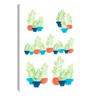 "PTM Images 9-105182  PTM Canvas Collection 10"" x 8"" - ""Potted Plants"" Giclee Abstract Art Print on Canvas"