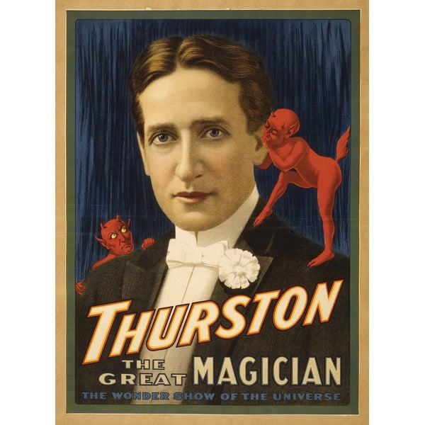 Thurston, Devil telling him secrets Magic Poster #2 (Art Print - Multiple  Sizes Available) - 9 x 12 Art Print
